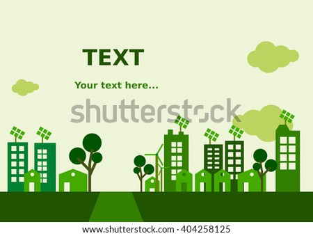 Flat Green City Background