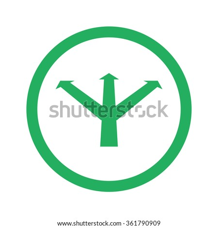 Flat green Strategy icon and green circle - stock vector