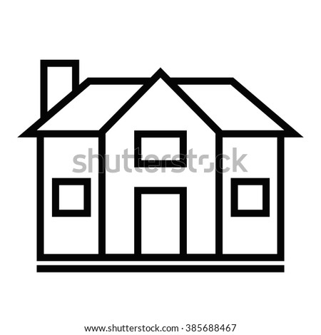 flat house icon home vector image stock vector 2018 385688467 rh shutterstock com mobile home clipart black and white mobile home clip art free