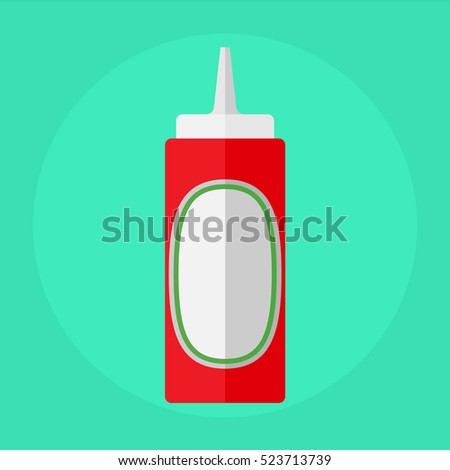 flat icon bottle of ketchup