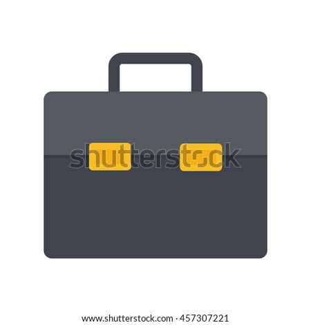Flat icon briefcase. Business icon. Vector illustration. - stock vector