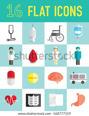 flat icon hospital - stock vector