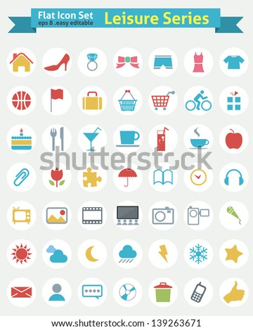 Flat Icon -- Leisure Series - stock vector