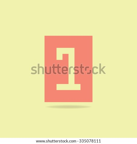 Flat Icon Number - stock vector