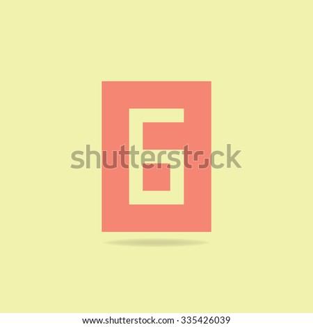 Flat Icon Number 6 .  Soft Color - stock vector