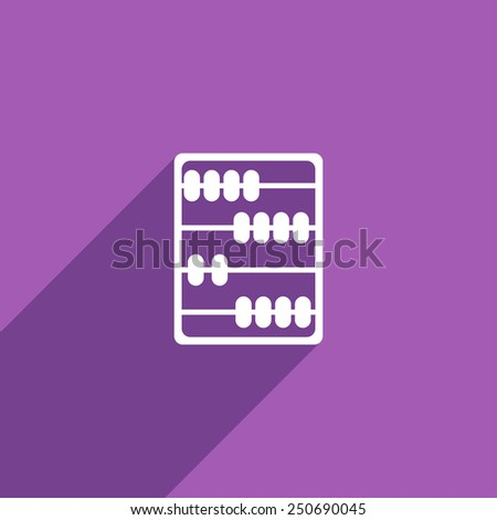 Flat Icon of abacus - stock vector