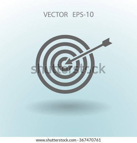 Flat icon of aim - stock vector