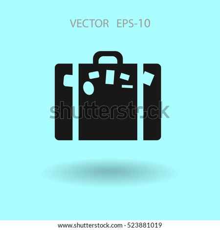 Flat icon of bag  vector illustration