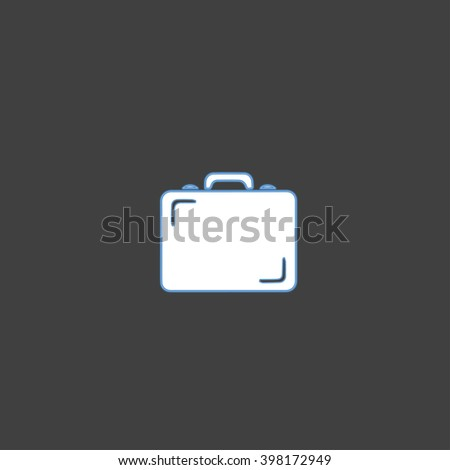 Flat icon of briefcase