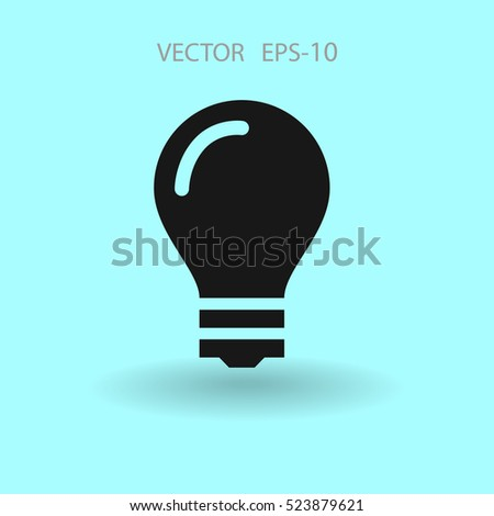 Flat icon of bulb. vector illustration