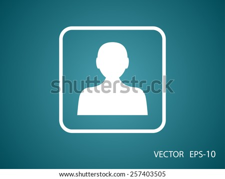 Flat icon of businessman - stock vector