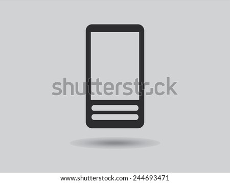 Flat icon of cellphone - stock vector