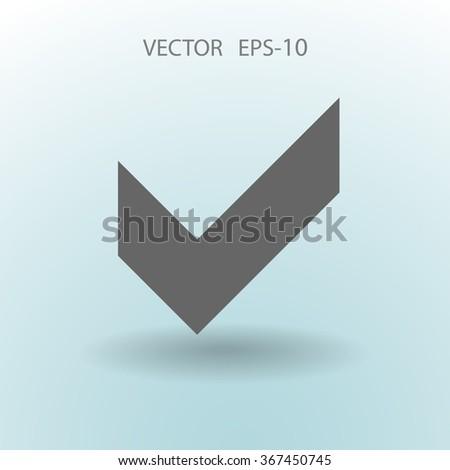 Flat icon of check box - stock vector