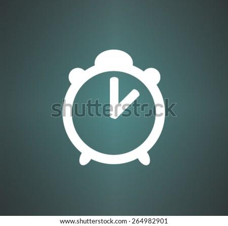 Flat icon of clock - stock vector