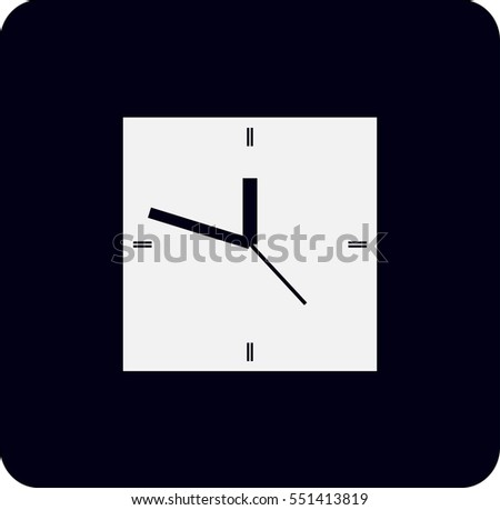 Flat  icon of clock