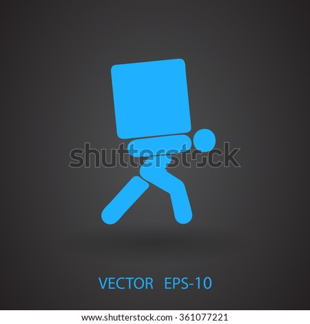 Flat icon of delivery - stock vector