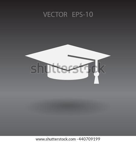 Flat  icon of graduate - stock vector