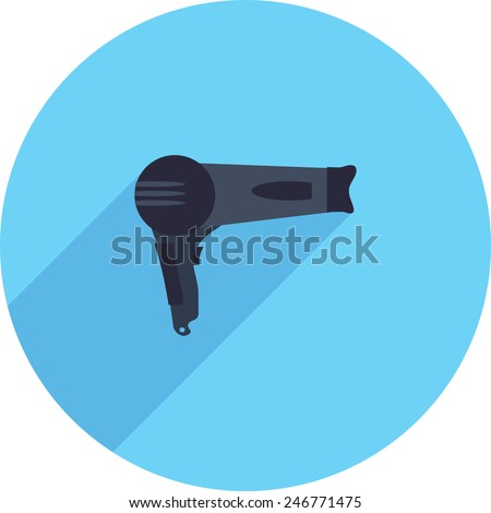 Flat Icon of hair dryer