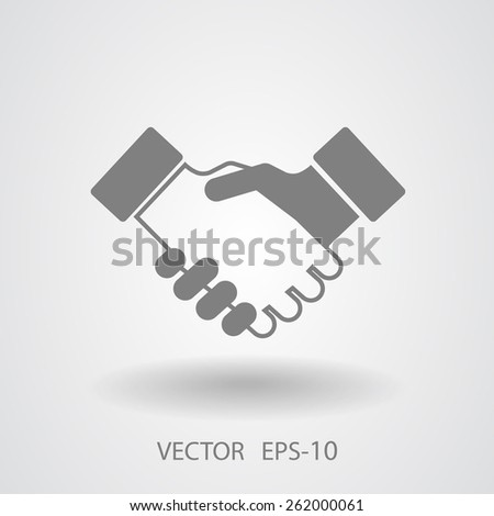 Flat  icon of handshake - stock vector