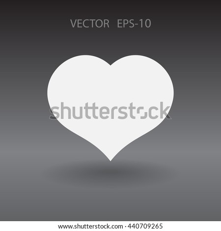 Flat icon of heart - stock vector