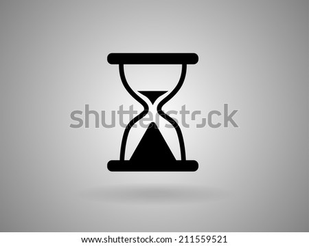 Flat icon of hourglass - stock vector