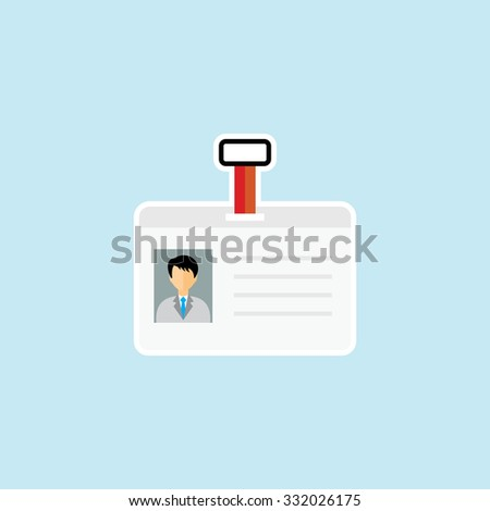 Flat Icon Of Identity Card. Eps.-10. - stock vector