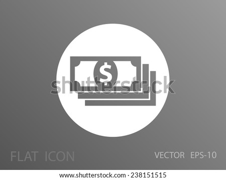 Flat icon of money - stock vector