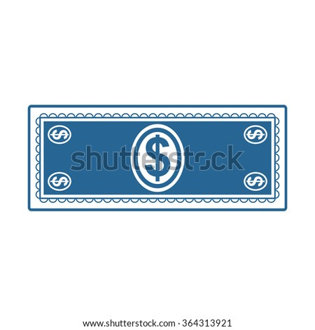 Flat icon of money  icon, vector illustration. Modern design. Flat design style