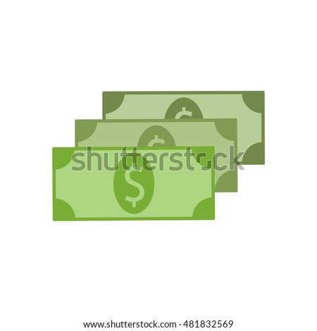 Flat icon of money vector icon