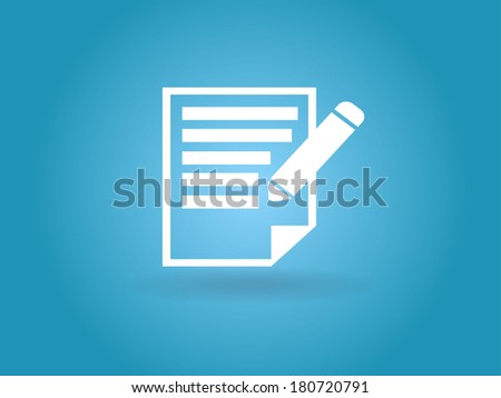 Flat  icon of notes - stock vector