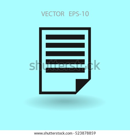 Flat icon of notes. vector illustration