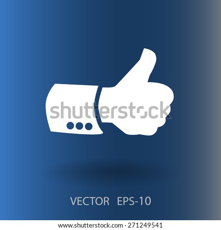 Flat icon of ok - stock vector