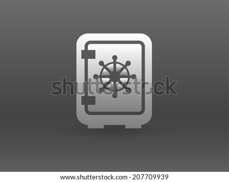 Flat icon of safe - stock vector