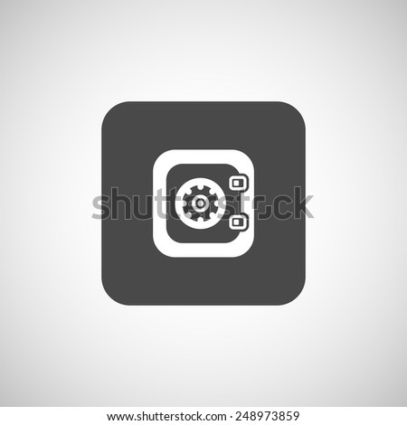 Flat icon of safe lock finance bank security protection safety - stock vector