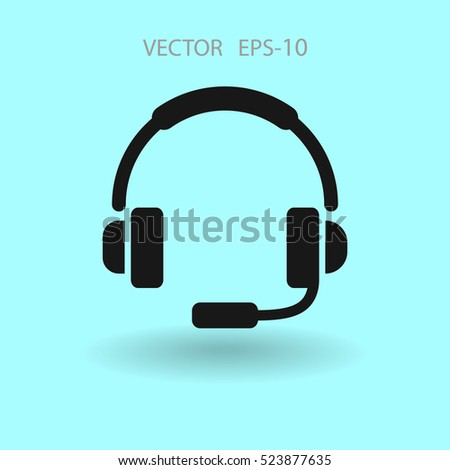 Flat icon of support. vector illustration