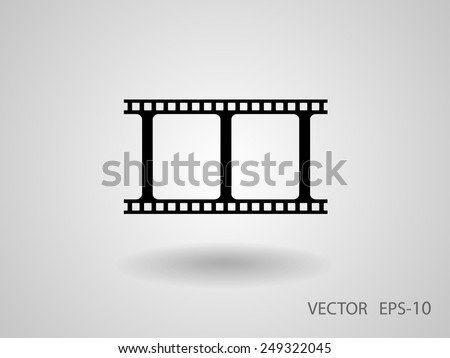 Flat icon of video - stock vector