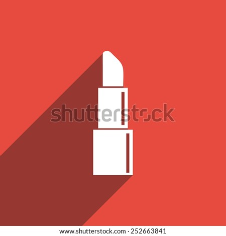 Flat Icon of Women Lipstick - stock vector