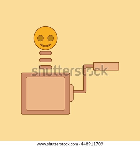 flat icon on background Kids toy box - stock vector