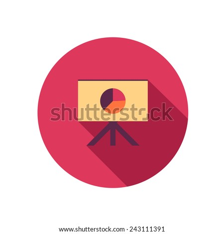 flat icon projector - stock vector