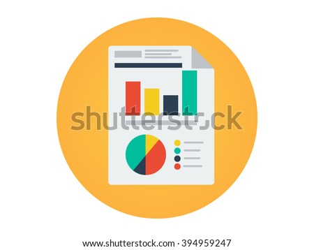 flat icon report illustration stock vector royalty free 394959247