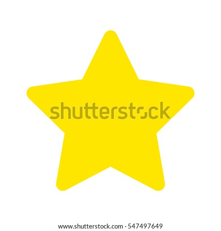 Flat icon star isolated on white background. Vector illustration.