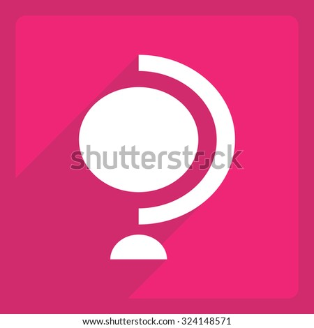 Flat icon with shadow and modern design globe  - stock vector