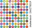 Flat Icons Set: Vector Illustration, Graphic Design. Collection Of Colorful Icons. For Web, Websites, Print, Presentation Templates, Promotional, Mobile Applications And Promotional Materials         - stock photo