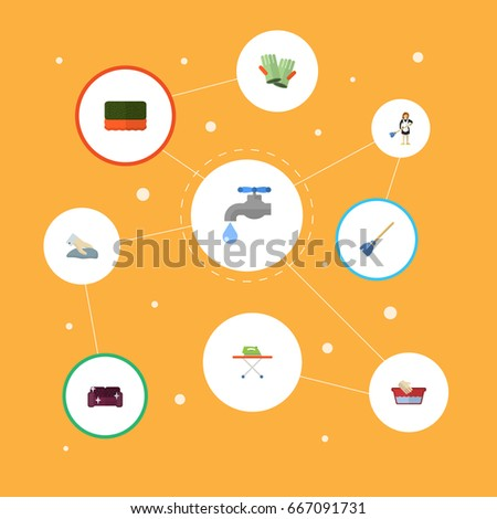 Flat Icons Lighter Zoom Cigarette Other Stock Vector 672948472