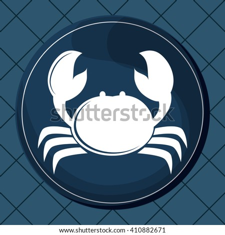 Flat illustration about crab design  - stock vector