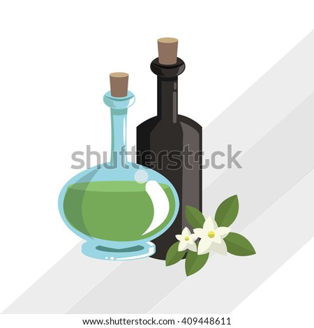 Flat illustration of spa center design