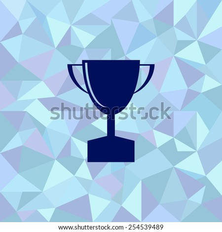 Flat image of the first place trophy