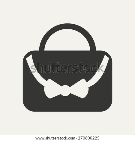 Flat in black and white mobile application bag  - stock vector