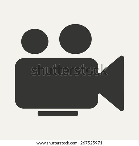 Flat in black and white mobile application camera  - stock vector