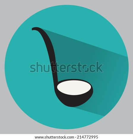 Flat ladle icon - stock vector